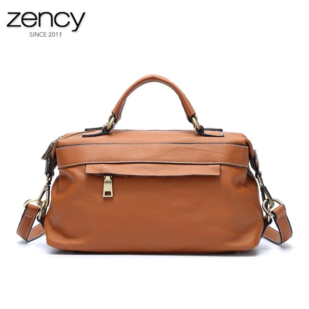 Hot Sale Genuine Leather Women Tote Bag Vintage Handbags High Quality Female Shoulder Messenger Bags Fashion Brand Designer
