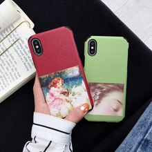 Abstract Classical Art Phone Case For iPhone X XR XS Max Silicone Cases 3D Relief Soft TPU Back Cover 8 7 6 6s Plus