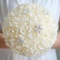 ramo de novia Wedding Bouquet Pearls Handmade Bride Bouquet Brooch Bouquet Brooch Accessories
