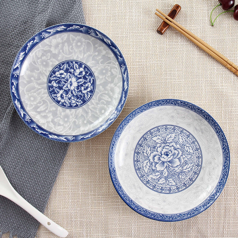 Dinnerware Set Tableware 12pcs blue and white Porcelain Plates Bowls utensils Bone China Dishes Service Plate-in Dinnerware Sets from Home u0026 Garden on ... & Dinnerware Set Tableware 12pcs blue and white Porcelain Plates Bowls ...