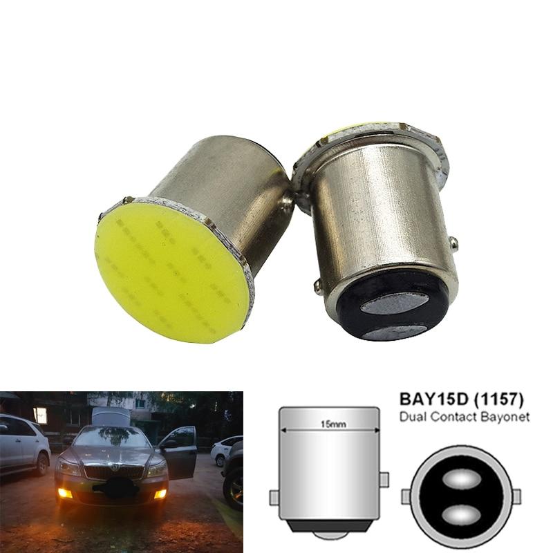 1x P21W 1157 Bay15d 1156 BA15S P21W светодиодный Поворотная сигнальная лампа COB Автомобильный интерьер светильник парковки заднего вида фонарь стоп-сигнала супер яркий 12V
