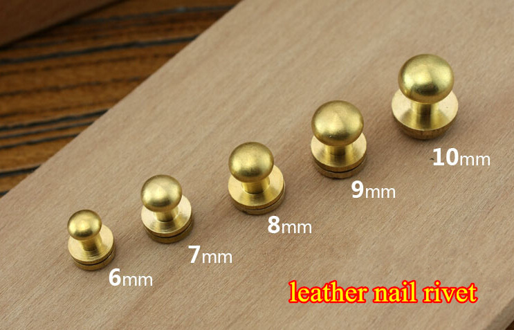 7mm leather brass durable belt craft solid screw nail rivet round head button stud chicago screw. Black Bedroom Furniture Sets. Home Design Ideas