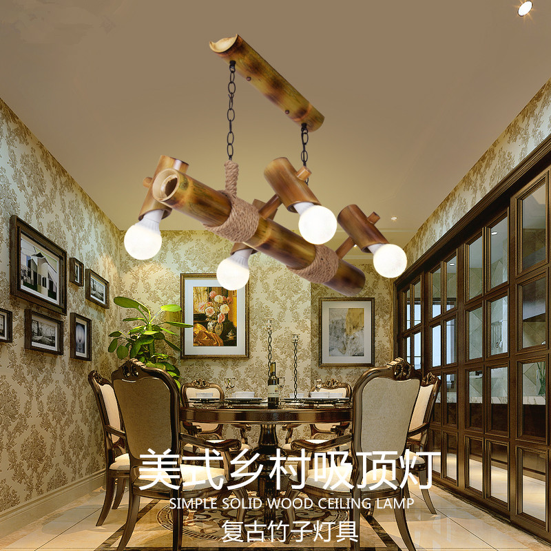 2017 Hot Sale American Rural Creative Retro Restaurant Bar Pendant Lights Chinese Style Study Cafe Bamboo Rope Home <font><b>Decor</b></font> <font><b>Lamps</b></font>