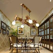 2017 Venta Caliente Americano Rural Creativo Retro Bar Restaurante Luces Colgantes de Estilo Chino Estudio Cafe Cuerda De Bambú Decoración Del Hogar Lámparas