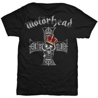 Fashion Mens Motorhead T Shirt Royal Crown King Of The Road Band Logo Black