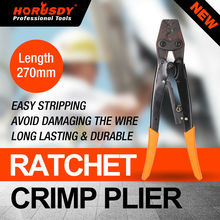 цена на HORUSDY 11 Wire Crimpers Terminal Crimping Pliers Engineering Ratcheting Bootlace Crimper Tools Cord End Terminals Press Pliers
