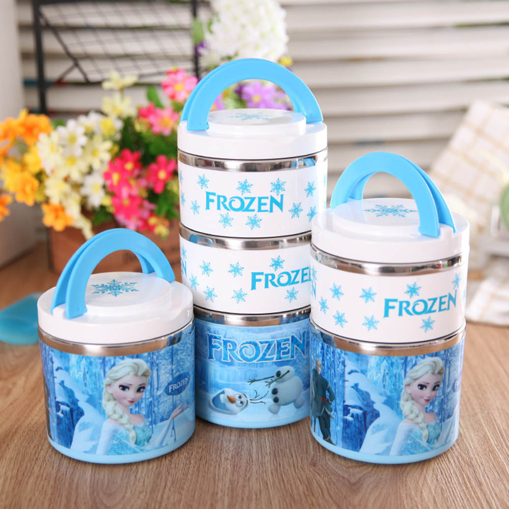 High Quality Insulated Vacuum Stainless Steel Lunch Box With Handle Bento Food Picnic Containers For Kid