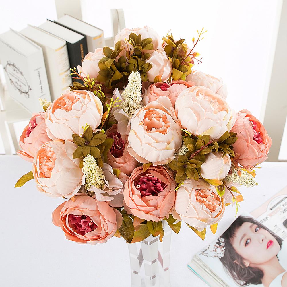 13 silk peony flower simulation flower european core peony five undefined izmirmasajfo