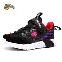 Dinoskulls 2019 Spring Children Shoes Kids Boy Led Light Up Shoes Boys Sneakers Mesch Breathable Running Shoes Toddler Sneakers