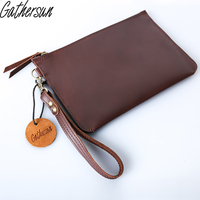 Original Design Handmade Women S Handbag Leather Envelop Bag Simple First Layer Cow Leather Vintage Style