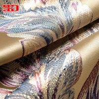High Grade Fabric Jacquard Luxury Curtains Blackout For Bedroom Blinds Drapes Peacock Feather Window Cortinas For