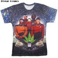 Star Trap T Shirt Star Trek Weed Leaf Galaxy T Shirt Summer Style Tops Chemise Casual