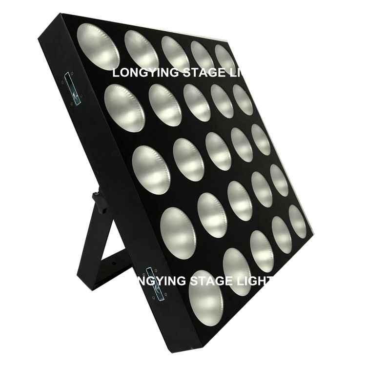 Free Shipping 25 Head 10W LED Matrix Light 5x5 DMX 25*10W RGBW 4IN1 Blinder Beam Wash Washer Disco Dance Stage Light