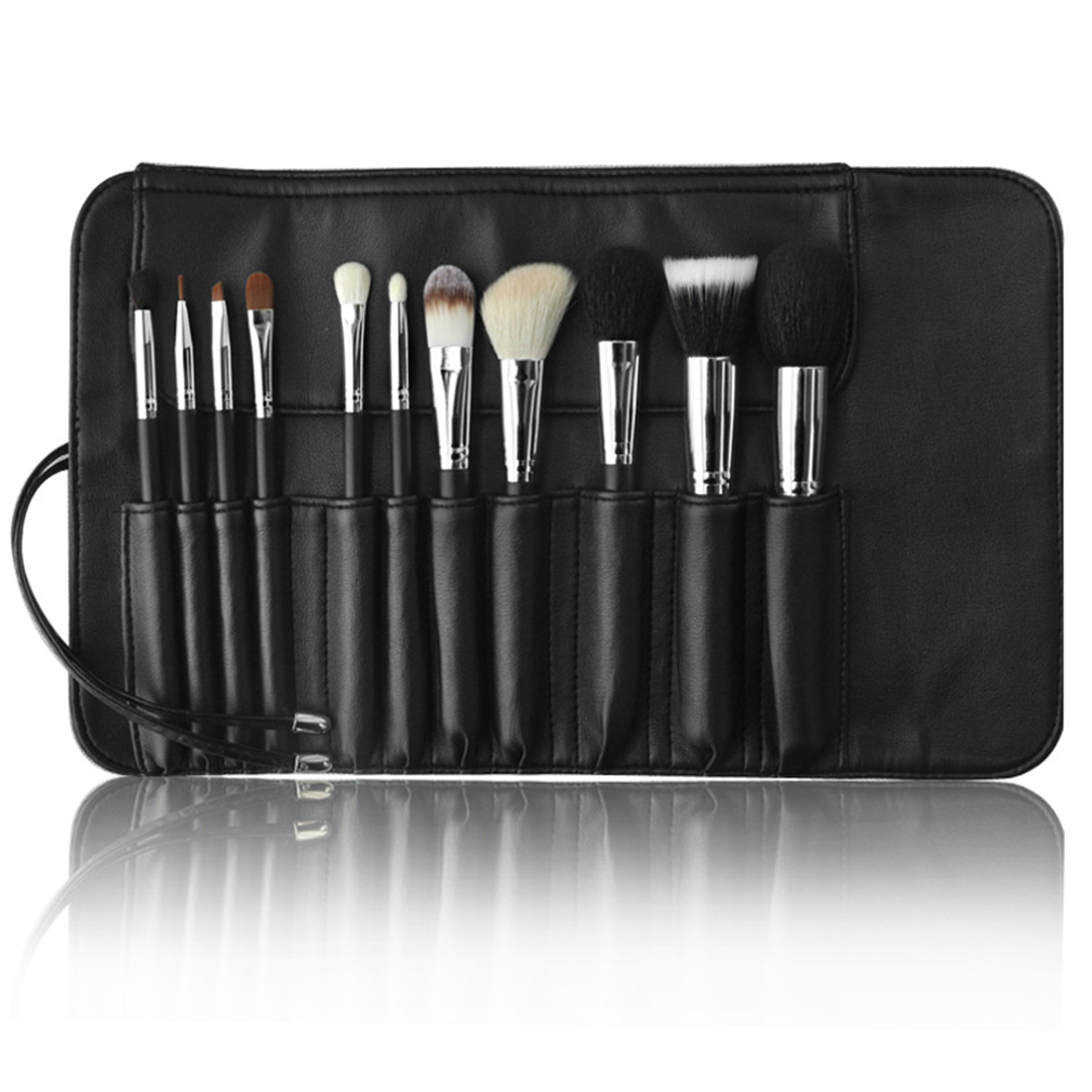 MSQ STBA11 Brand 11pcs/set  Classic Design Professional Makeup Brushes Eye Shadows Lipsticks Powder Blusher Make Up Brushes Kit