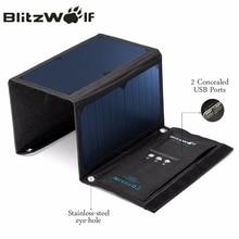 BlitzWolf 20 W Solaire Power Bank Panneau Solaire Portable Chargeur Externe Batterie Universel Powerbank Pour iPhone Pour Xiaomi Téléphones