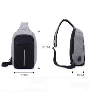 Image 3 - INHO CHANCY backpack school bag for teenagers design frame USB Charge Computer Backpacks Anti theft Waterproof for Men Women