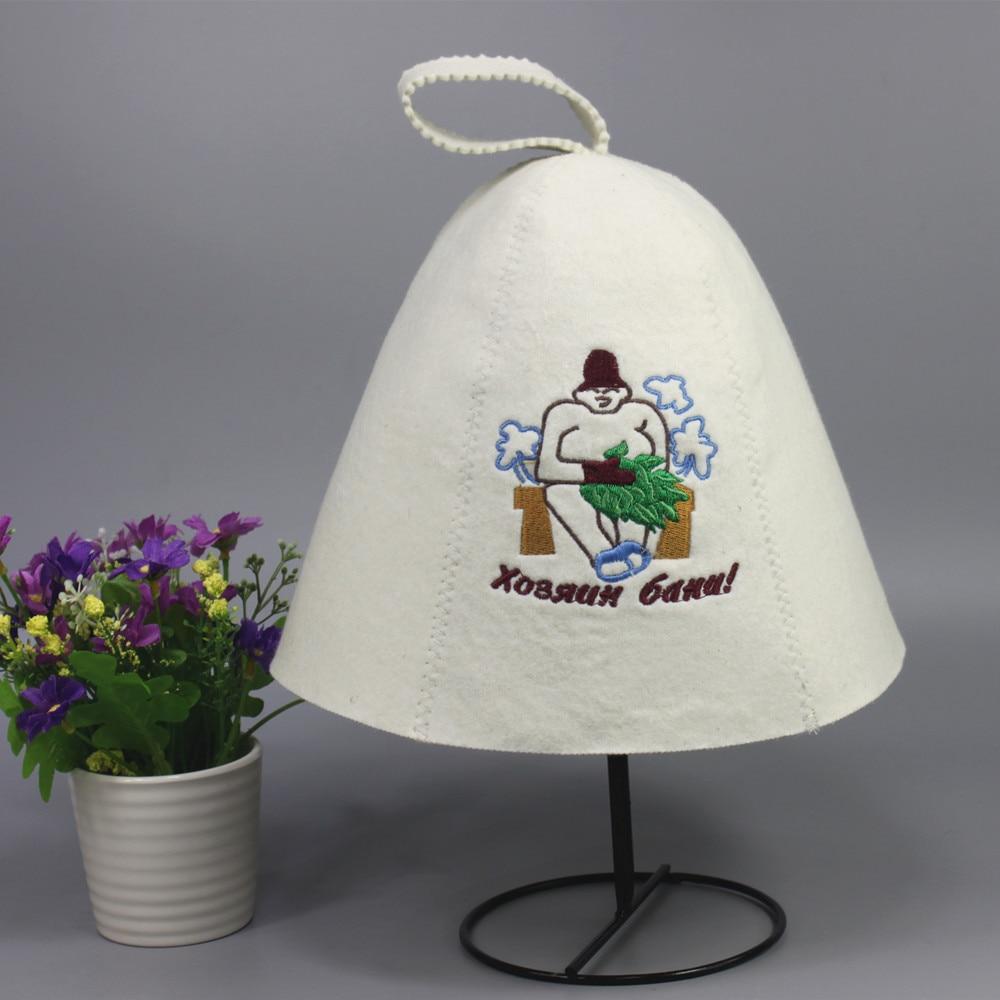 (2PCS / qablaşdırma) yun şapka, sauna topdan hiss olunur, Klassik - Ev əşyaları - Fotoqrafiya 3