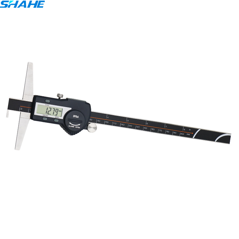 digital vernier caliper 0 200 mm single hooks depth calipers vernier micrometer measuring instruments depth gauge