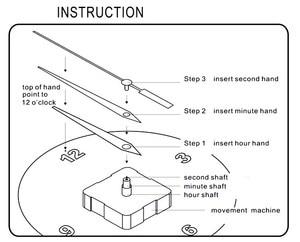 Image 5 - 10PCS 22MM קוורץ תנועת שעון מנגנון שעון חלקי אביזרי שקט שעון DIY עם שעון מצביע