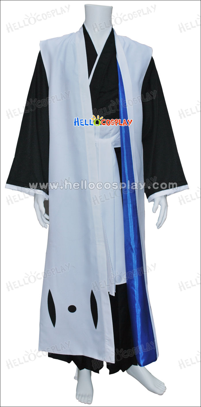 Javel 6th chef d'escouade Byakuya Kuchiki Costume Cosplay H008