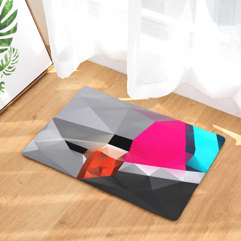 New home decoration geometry carpet no sliding kitchen carpet for home living room floor mat 40x6050x80cm