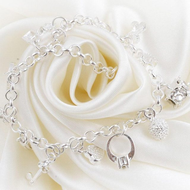 Charm Bracelet 2016 Hot Fashion Cross Moon Lock Pendant Thirteen