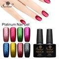 Saviland 1pcs Semi Permanent UV Led Gel Shining Nail Gel Polish Platinum Long-lasting Fingernail Gel Glitter Manicure Set