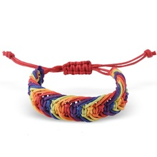 LGBT Rainbow Knot Bracelets For Lesbian Real Lovers
