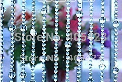 10meters/lot round glass bead Crystal Curtain/ Wedding home Decoration / Room Divider / Beaded Strands