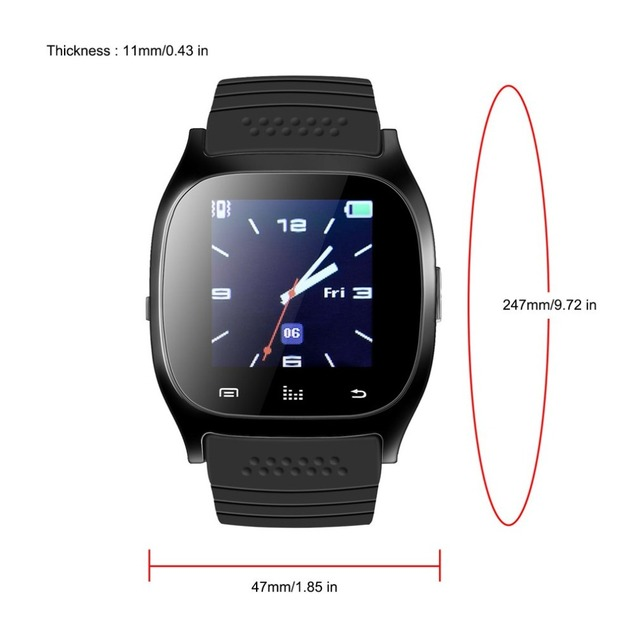 US $15 73 |Newest Update M26 Wireless Bluetooth Smartwatch Smart Wrist  Digital Watches Sync Phone Mate For IOS For Android phones-in Smart Watches