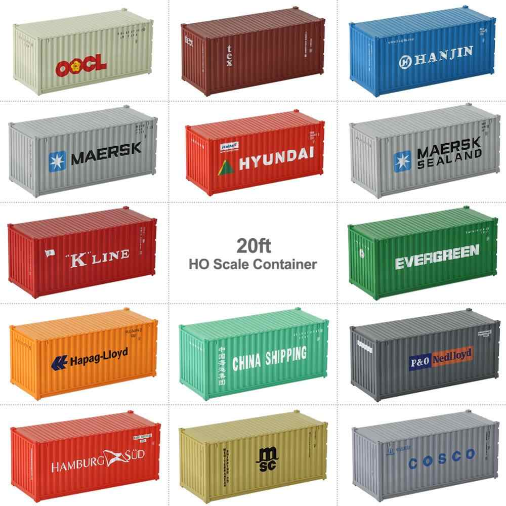 1pc HO Scale Model Train 20 Foot Container 20ft Shipping Container Freight Car Wagon 1:87 C8726 Model Accessory