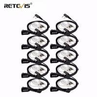 10pcs PTT MIC In ear Earpiece Walkie Talkies Headset For Kenwood For Baofeng UV5R UV82 888S Retevis H777 RT22 For TYT For Puxing