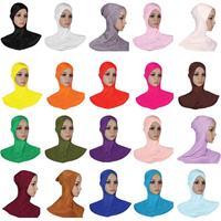 12 PCS Muslim Women Soft Hat Bone Bonnet Inner Cap Hijab Islamic Wrap Neck Cover Arab