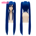 OHCOS  Fairy Tail Character Wendy 100cm Long Straight Dark Blue Sythetic HairCosplay Wig