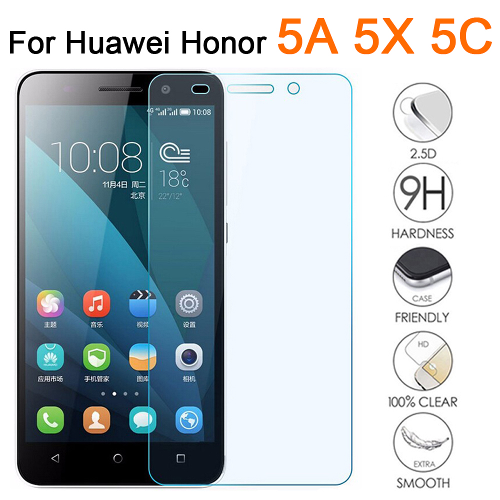 Protective Glass Honor 5c Glass For Huawei 5x 5a Tempered Glas 5 C X A C5 X5 A5 Film Screen Protector On Honor5c Honor5x Honor5a