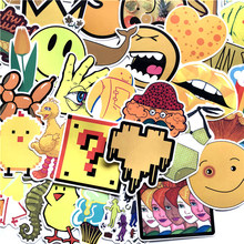 70pcs/set Mixed Yellow Style Stickers Graffiti Sticker PVC Waterproof For Laptop Skateboard Luggage Styling Decor For Gift F5(China)