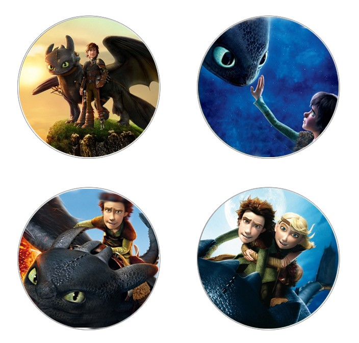 Hot sale 5pcs16mm20mm25mm How to Train Your Dragon Movie Handmade Photo Glass Drop Style Cabochons Jewelry Accessories image