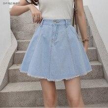 Azul Denim Faldas Mujer Pantalones cortos de verano de 2019 moda  Streetwear 59a0771266c2