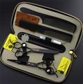 Profesional tijeras del pelo Set zurdo 6.0 pulgadas barbero corte de pelo adelgazamiento tijeras de peluquería tijeras 440C alta calidad