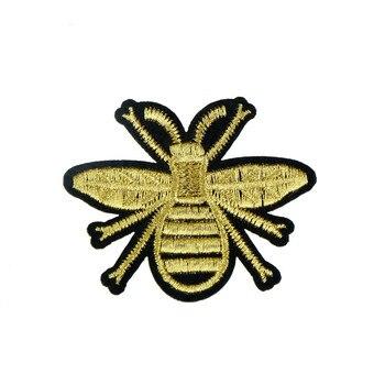 1Pcs Bee Honig Patches Bestickt Patch Für Kleidung Für T-shirt Stickerei Eisen Auf Patch Dekoration Zubehör