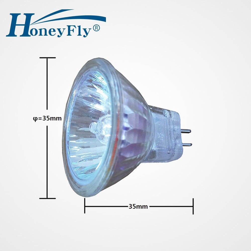 HoneyFly 12pcs MR12 Halogen Lamp 12V 12W/12W Warmwhite Halogen Light Bulb  Gu12 Spot Light Clear Glass Cover Dimmable Indoor