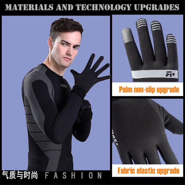200pair!Men&Women Winter Lightweight 2-Finger Touch Screen Gloves,Super Elastic Quick-dry,Non-slip,Jogging Sporting Magic Gloves 1