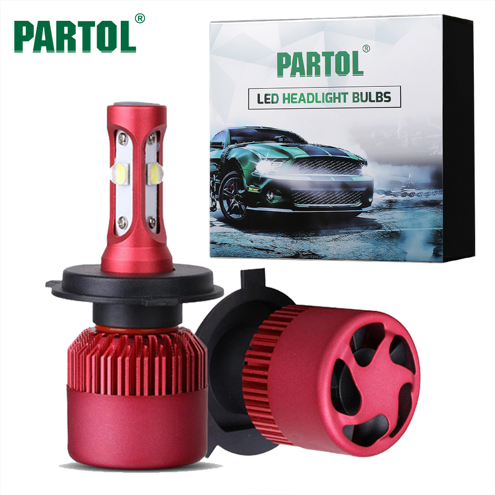 Partol G9 80W H4 H7 H11 9005 9006 H13 Car LED Headlight Bulbs Aut LED Headlamp Fog Light Hi-Lo Beam 9600LM 6500K 12V 24V Offroad partol h4 h13 h7 h8 h9 h11 hb3 9005 hb4 9006 car led headlight bulbs canbus fog lamp light decoder resistor wire harness adapter