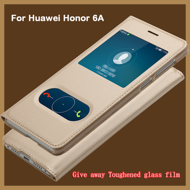 huawei 6a. 2017 for huawei honor 6a case ,volsys business style view windows flip leather cellphone back 6a