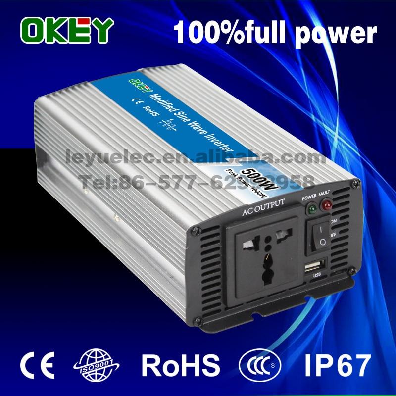 цена на CE RoHS approved 500w 12v to 240v modified sine wave inverter solar inverter home applicantion power inverter