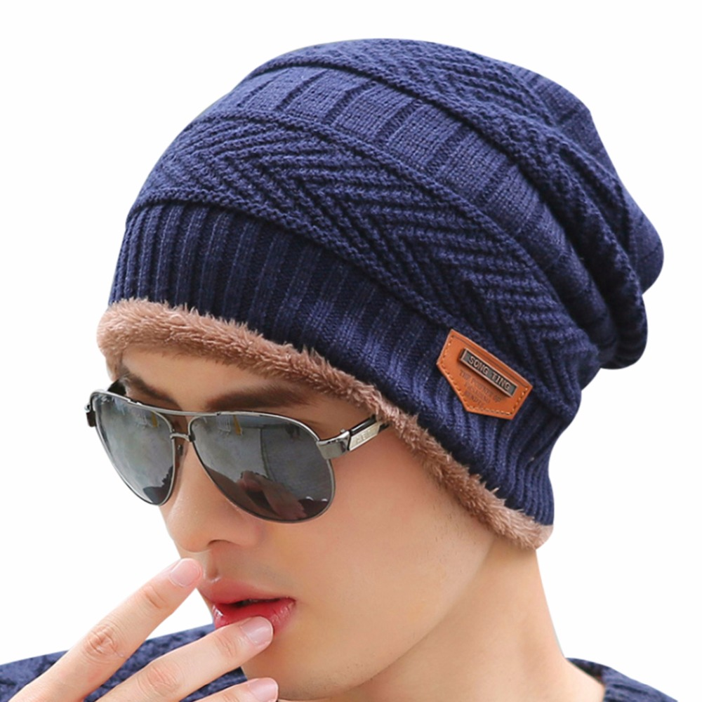 2017 New Knit Thick Hat Men Women s