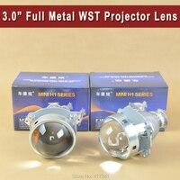 3.0 WST Bi Xenon Projector Lens Matt Silver Type Using H1 xenon lamp for Easy Install for Cars Headlight H1 H4 H7 H11 9005 9006