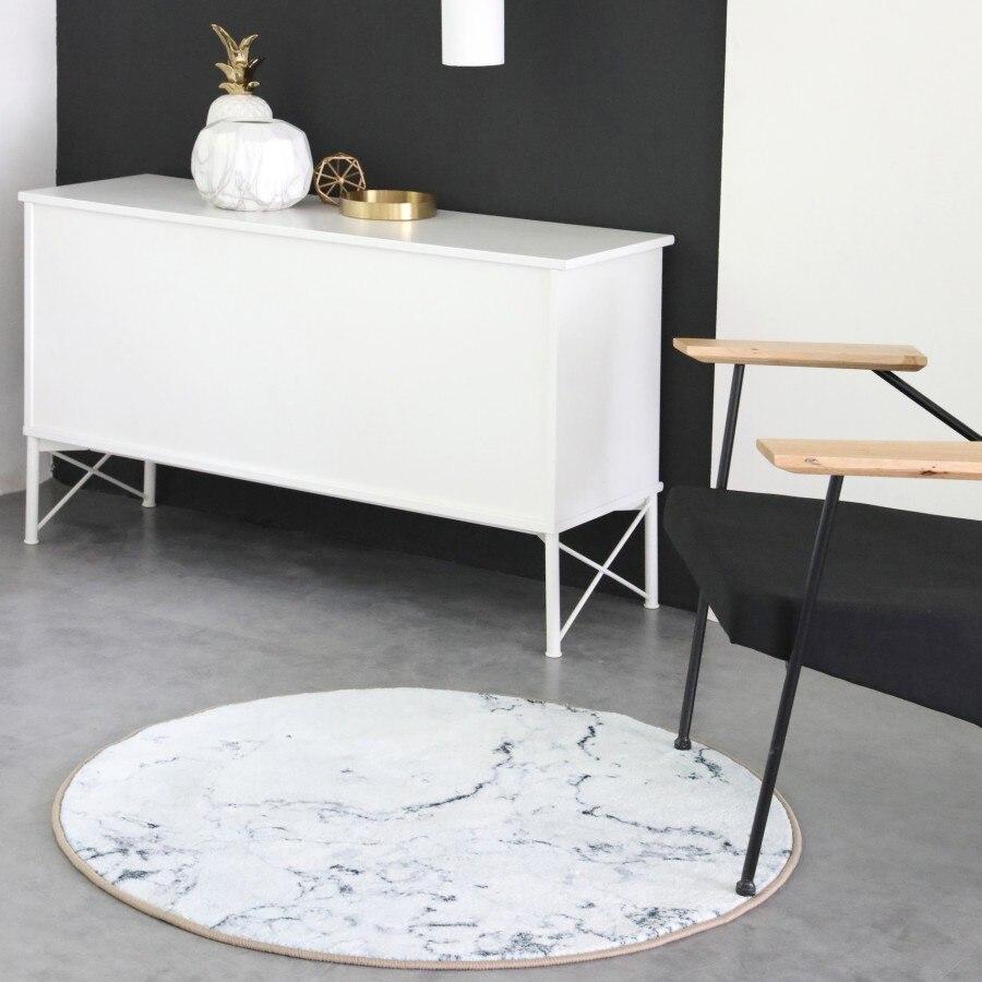 Bianco marmo Nordic soggiorno Tappeto Geometrica Indiano Marocco Tappetini plaid a righe Da Cucina Zerbino Da Comodino rotondo Tappetini s moderna chic