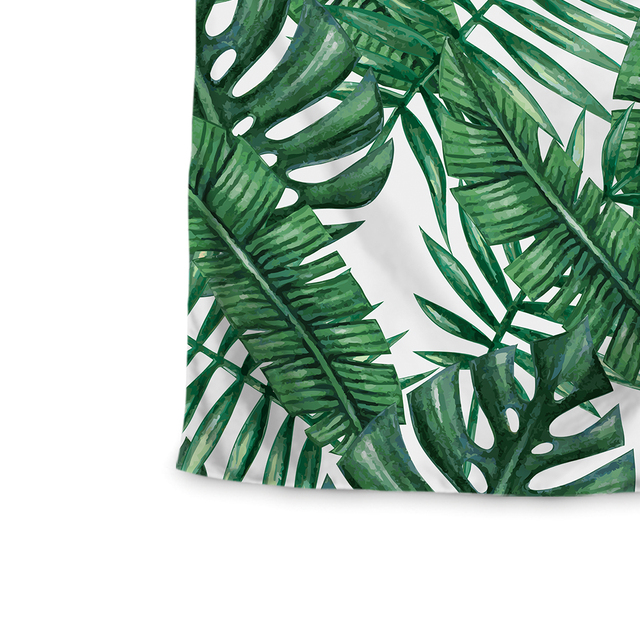 Miracille Polyester Tropical Plant Pattern Wall Cloth Hanging Tapestry Wedding Party Gift Bedspread Beach Towel Yoga Picnic Mat 4