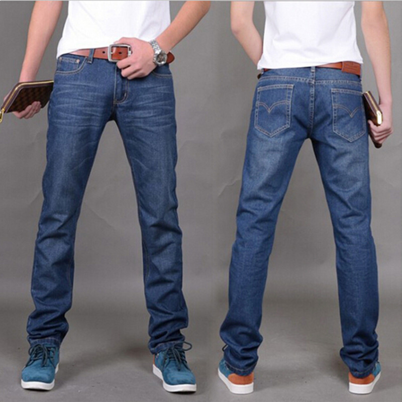 2016 Summer Men's Slim Straight Jeans Casual Korean Version Men Denim Pants Jeans Hombre Plus size 28-40 dMY604 Freeshipping
